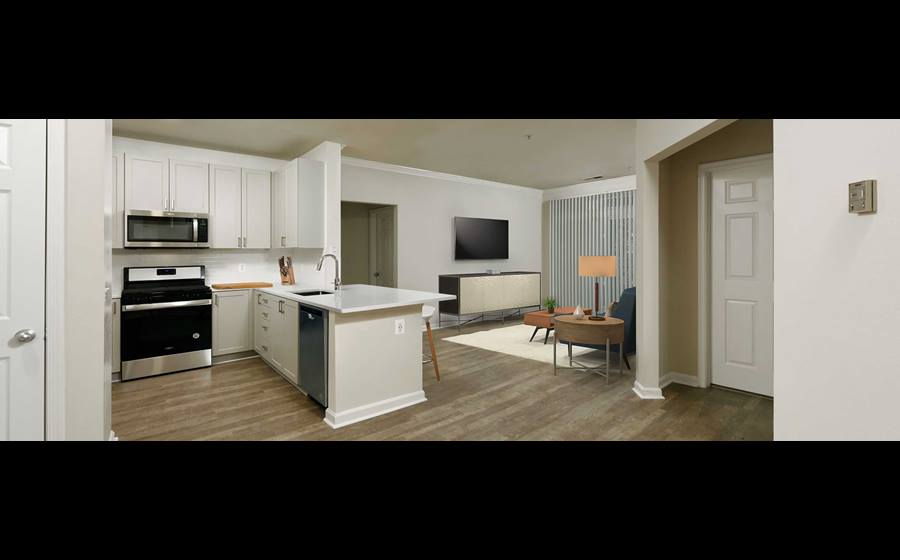 Finish Package IV kitchen and living areas with hard surface flooring